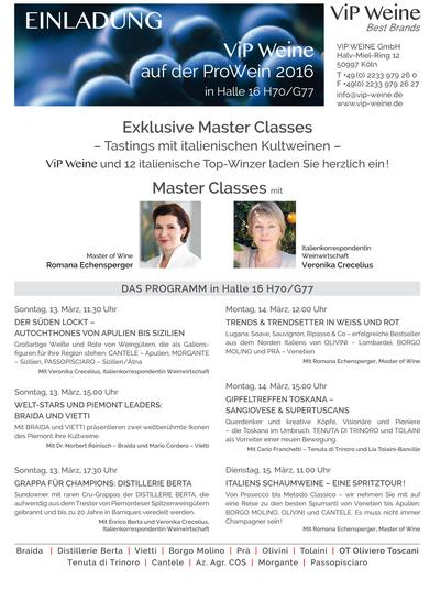 Programm Master Classes