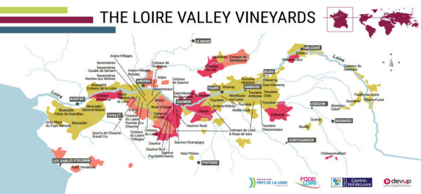 Map LOIRE VALLEY WINES