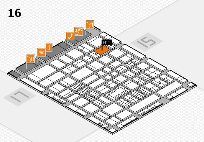 ProWein 2016 Hallenplan (Halle 16): Stand H11