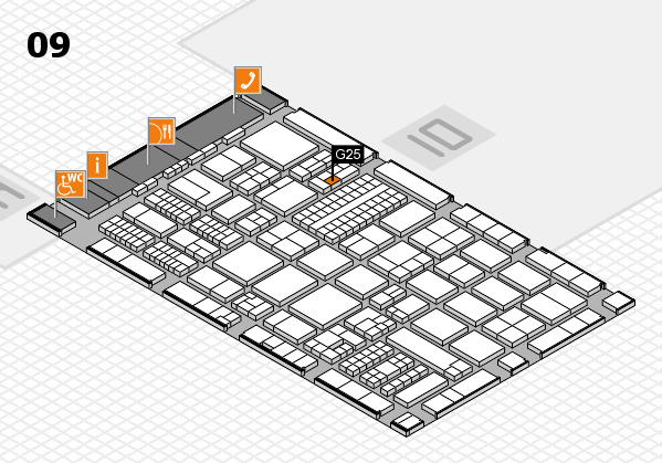 ProWein 2017 hall map (Hall 9): stand G25