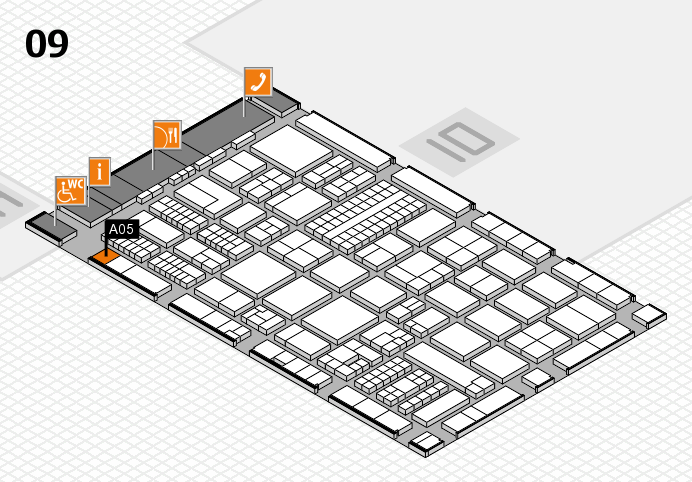 ProWein 2017 hall map (Hall 9): stand A05