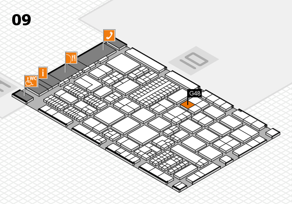 ProWein 2017 hall map (Hall 9): stand G48