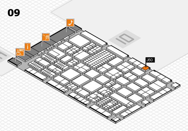 ProWein 2017 hall map (Hall 9): stand J60