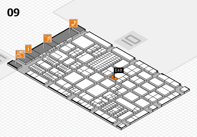 ProWein 2017 hall map (Hall 9): stand E48