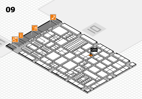 ProWein 2017 hall map (Hall 9): stand G55