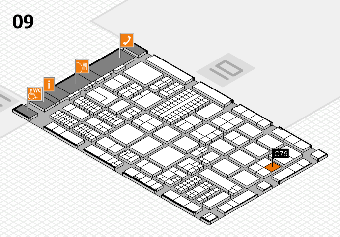 ProWein 2017 hall map (Hall 9): stand G79