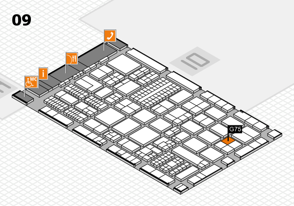 ProWein 2017 hall map (Hall 9): stand G75