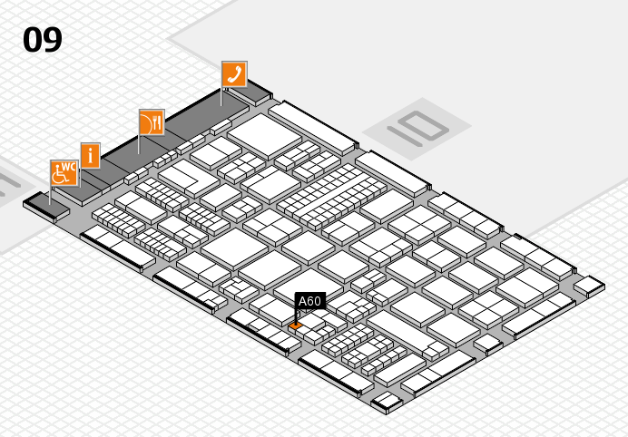 ProWein 2017 hall map (Hall 9): stand A60