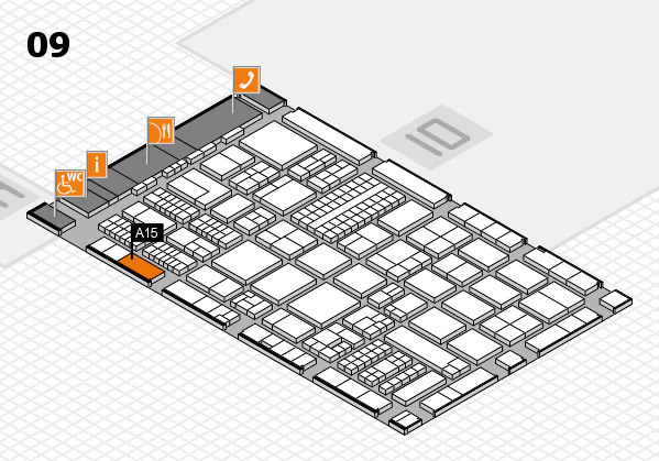 ProWein 2017 hall map (Hall 9): stand A15