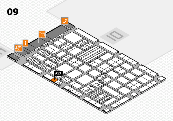 ProWein 2017 hall map (Hall 9): stand A33
