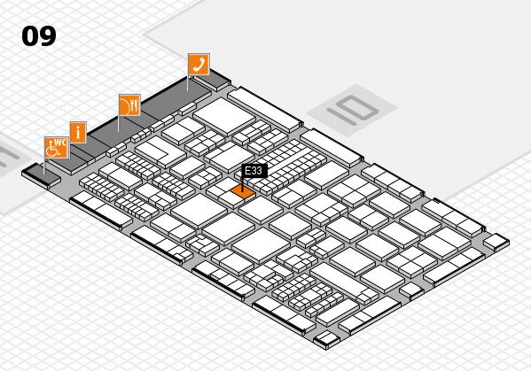 ProWein 2017 Hallenplan (Halle 9): Stand E33