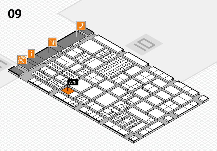 ProWein 2017 hall map (Hall 9): stand A28