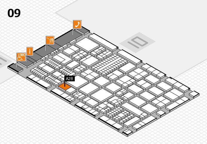 ProWein 2017 Hallenplan (Halle 9): Stand A28