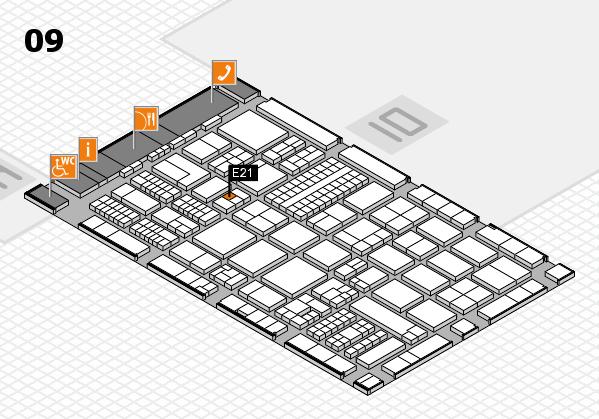 ProWein 2017 hall map (Hall 9): stand E21