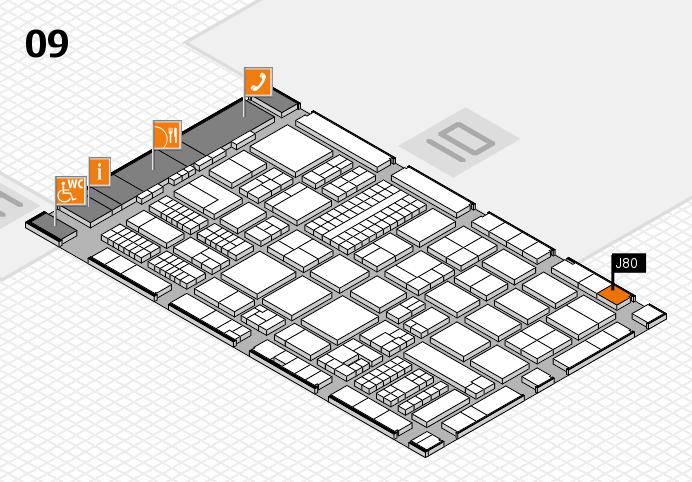 ProWein 2017 hall map (Hall 9): stand J80