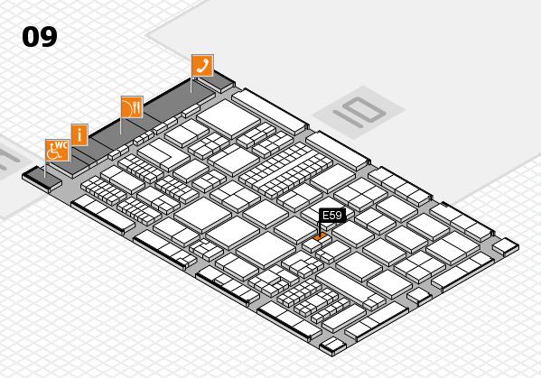 ProWein 2017 hall map (Hall 9): stand E59