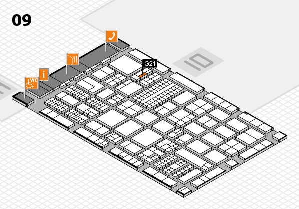 ProWein 2017 hall map (Hall 9): stand G21