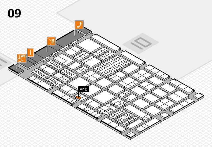 ProWein 2017 hall map (Hall 9): stand A40