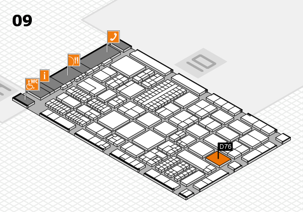 ProWein 2017 hall map (Hall 9): stand D76