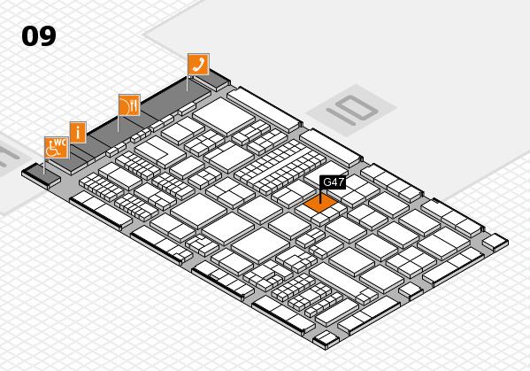 ProWein 2017 Hallenplan (Halle 9): Stand G47