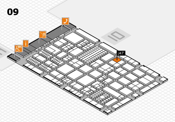 ProWein 2017 hall map (Hall 9): stand J47