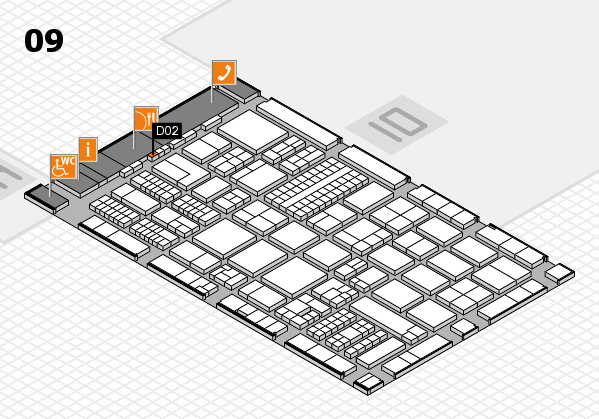 ProWein 2017 hall map (Hall 9): stand D02