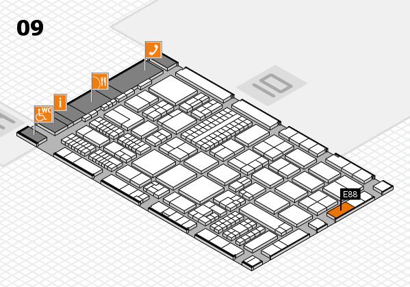 ProWein 2017 Hallenplan (Halle 9): Stand E88
