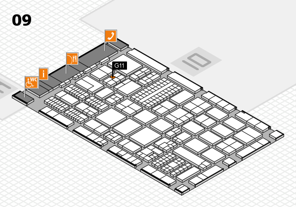 ProWein 2017 hall map (Hall 9): stand G11