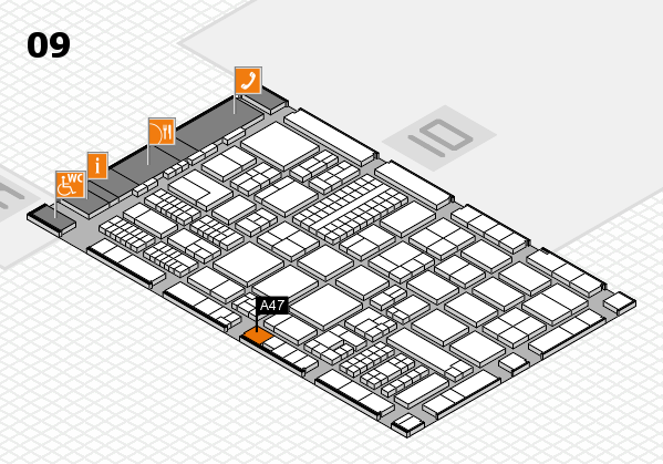 ProWein 2017 hall map (Hall 9): stand A47