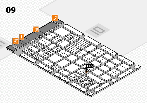 ProWein 2017 hall map (Hall 9): stand D65