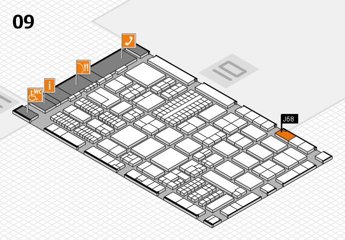 ProWein 2017 hall map (Hall 9): stand J68