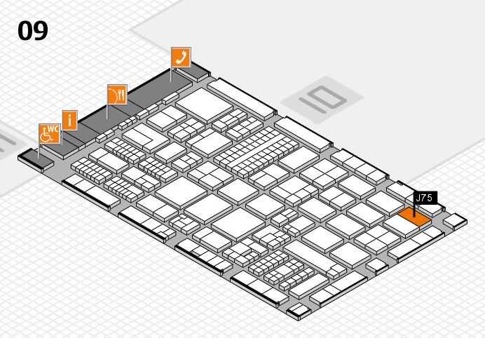 ProWein 2017 hall map (Hall 9): stand J75