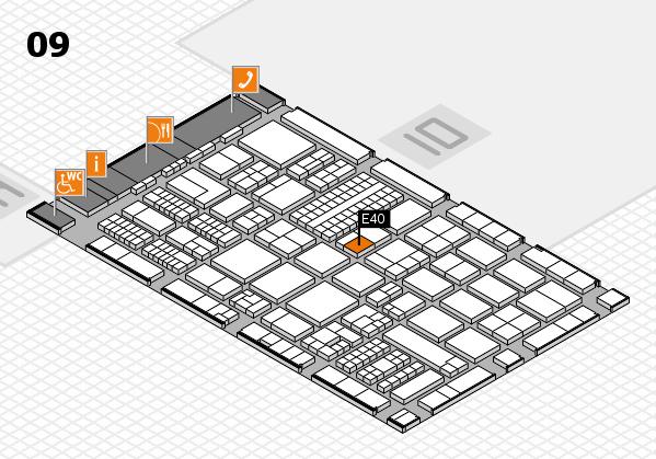 ProWein 2017 hall map (Hall 9): stand E40
