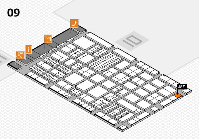 ProWein 2017 hall map (Hall 9): stand J87