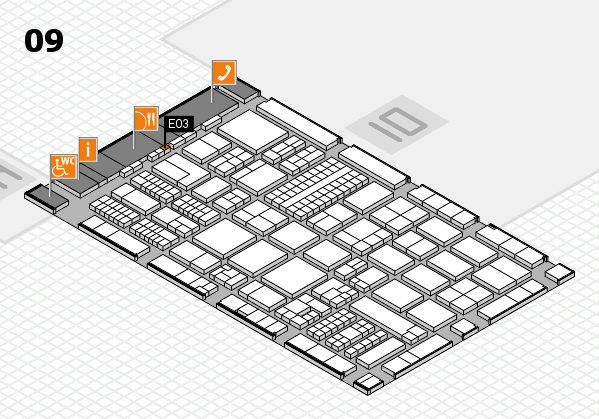 ProWein 2017 hall map (Hall 9): stand E03