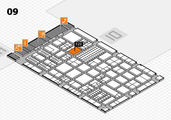 ProWein 2017 hall map (Hall 9): stand E22