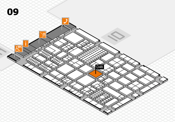 ProWein 2017 hall map (Hall 9): stand D48