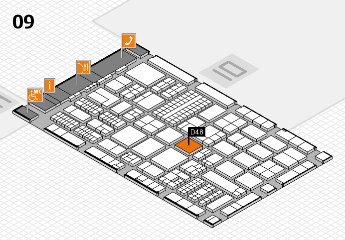 ProWein 2017 Hallenplan (Halle 9): Stand D48