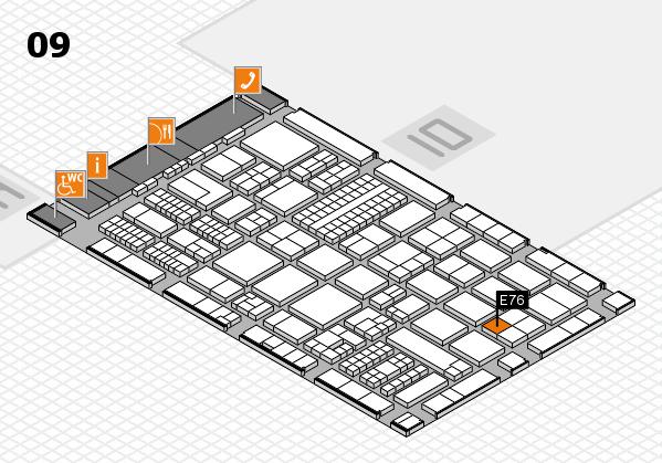 ProWein 2017 hall map (Hall 9): stand E76