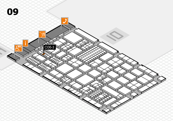 ProWein 2017 hall map (Hall 9): stand C06-3