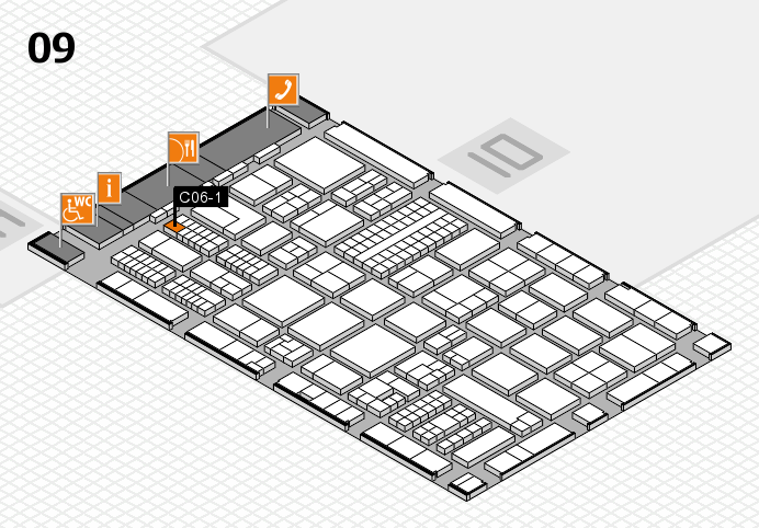 ProWein 2017 Hallenplan (Halle 9): Stand C06-1