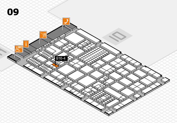 ProWein 2017 hall map (Hall 9): stand B16-4