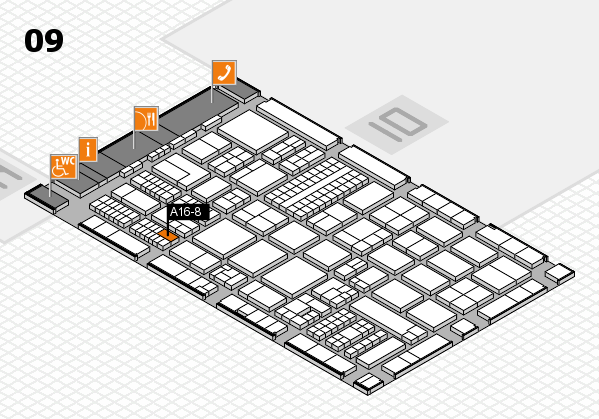 ProWein 2017 hall map (Hall 9): stand A16-8