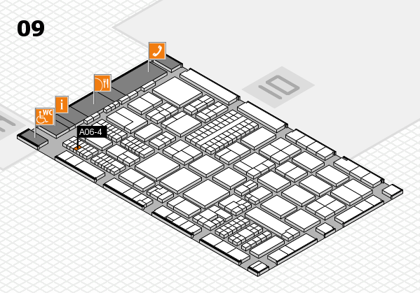 ProWein 2017 hall map (Hall 9): stand A06-4