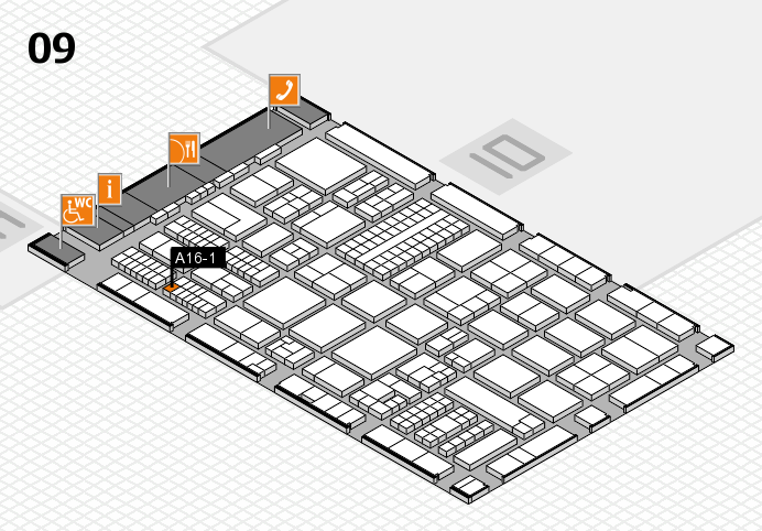 ProWein 2017 hall map (Hall 9): stand A16-1