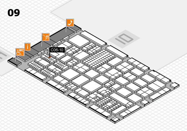 ProWein 2017 hall map (Hall 9): stand C06-10