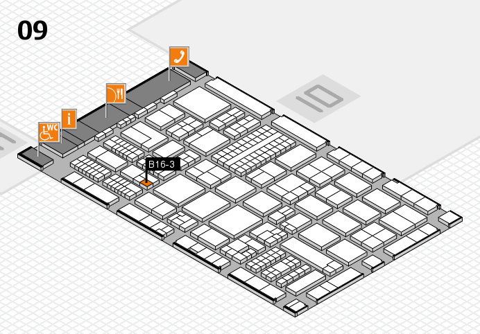 ProWein 2017 hall map (Hall 9): stand B16-3