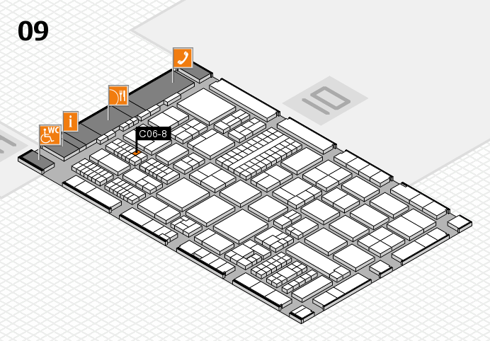 ProWein 2017 hall map (Hall 9): stand C06-8