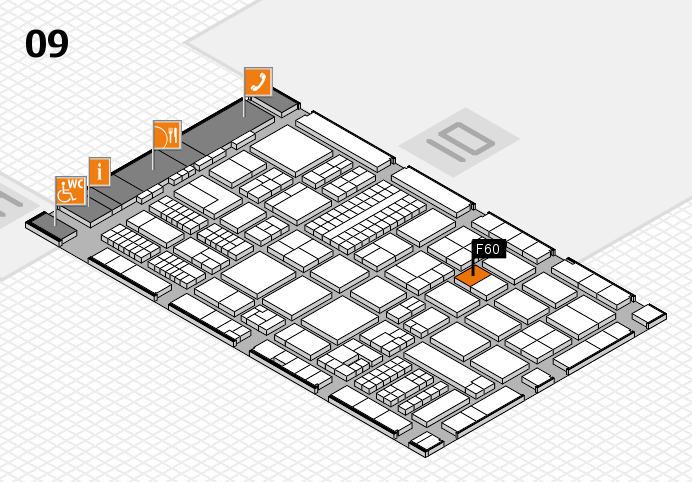 ProWein 2017 hall map (Hall 9): stand F60
