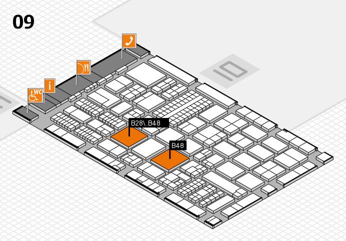 ProWein 2017 hall map (Hall 9): stand B28